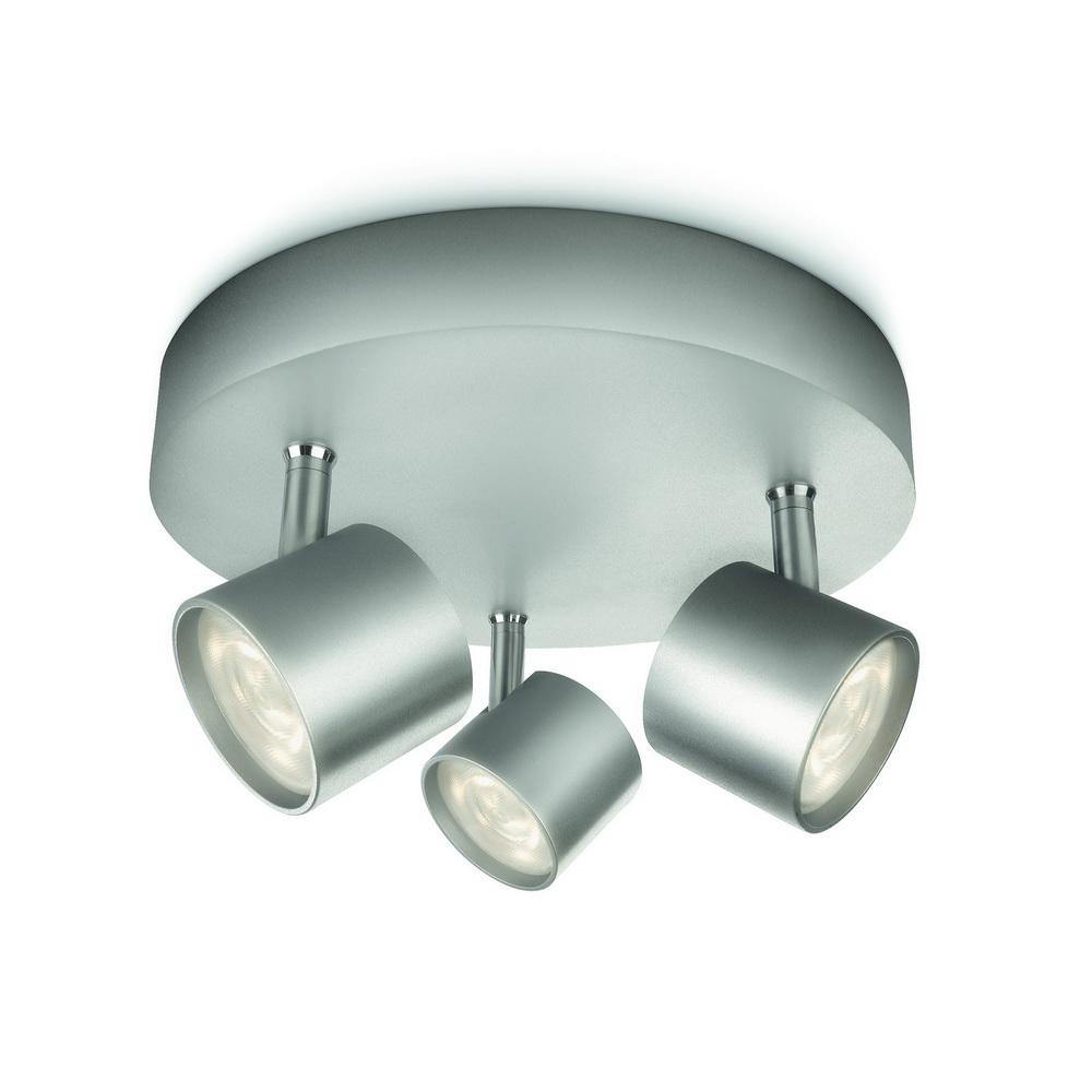 Plafoniera Philips star plat/spiral aluminium 3X4,5W mathaus 2021