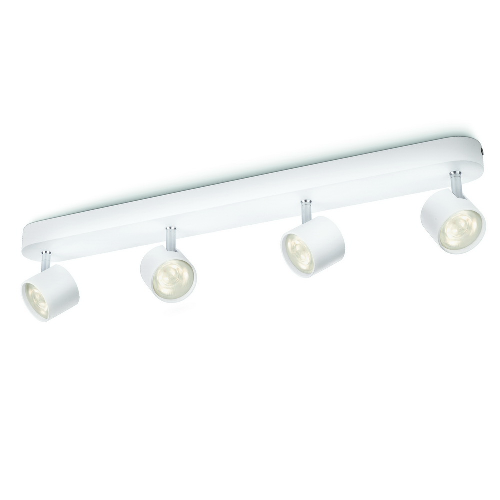 Spot Philips luminos cvadruplu Star bar, 4 x LED, 4,5W, alb imagine 2021 mathaus