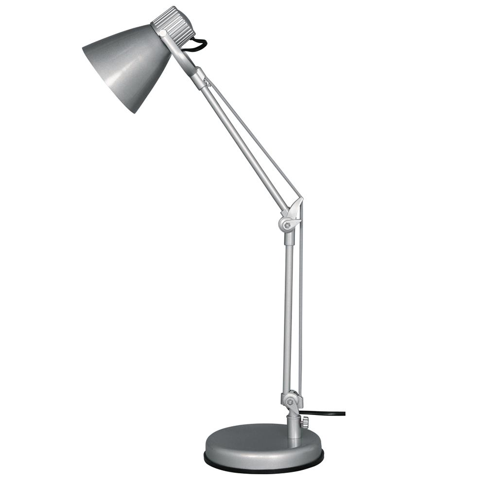 Lampa birou Zack KL 2103, argintie, 1 x E14, 40 W imagine 2021 mathaus