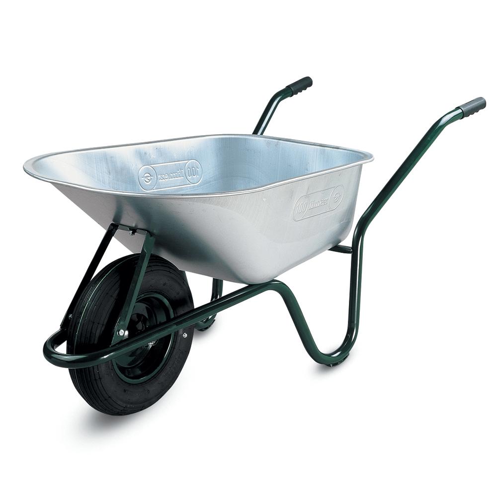 Roaba Limex 100 l, galvanizata, cu roata pneumatica mathaus 2021