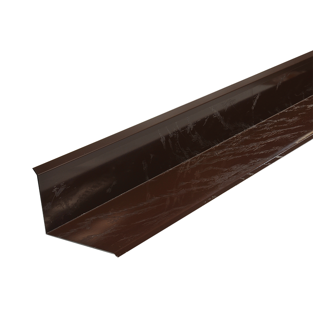 Profil inchidere perete, mare, Durako, maro RAL 8017, lucios, L= 2 m imagine 2021 mathaus