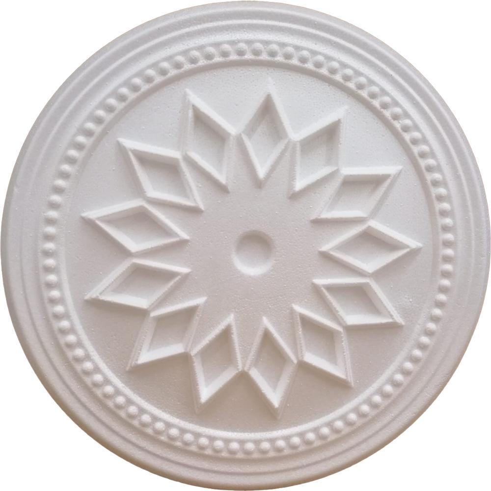 Rozeta decorativa din polistiren expandat GS 04, diametru 40 cm, alb mathaus 2021