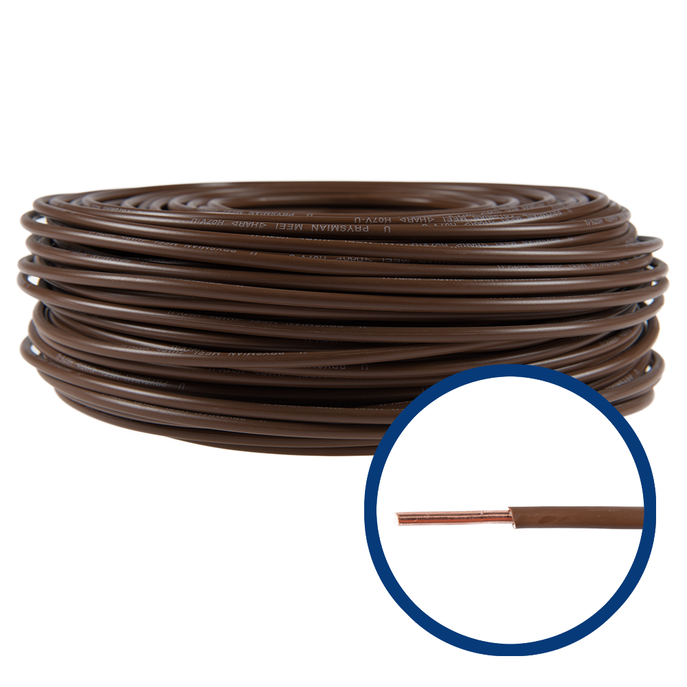 Cablu electric FY (H07V-U) 6 mmp, izolatie PVC, maro