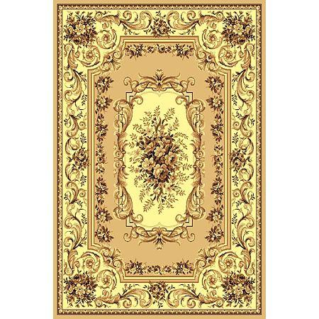 Covor clasic Gold 235/12, polipropilena BCF, bej-maro, 60 x 110 cm