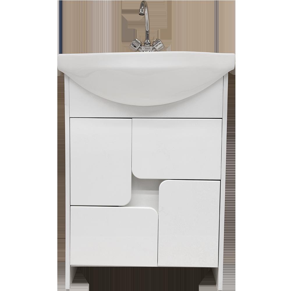 Mobilier baie baza si lavoar alb, 580 x 310 x 810 mm, 17 kg
