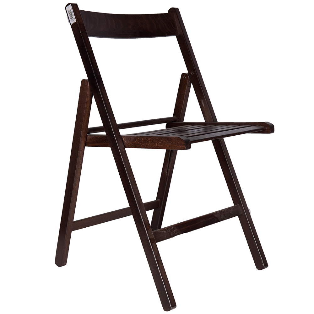 Scaun pliant Basic din lemn de fag, culoarea wenge, sezut de lemn, 78x43cm mathaus 2021
