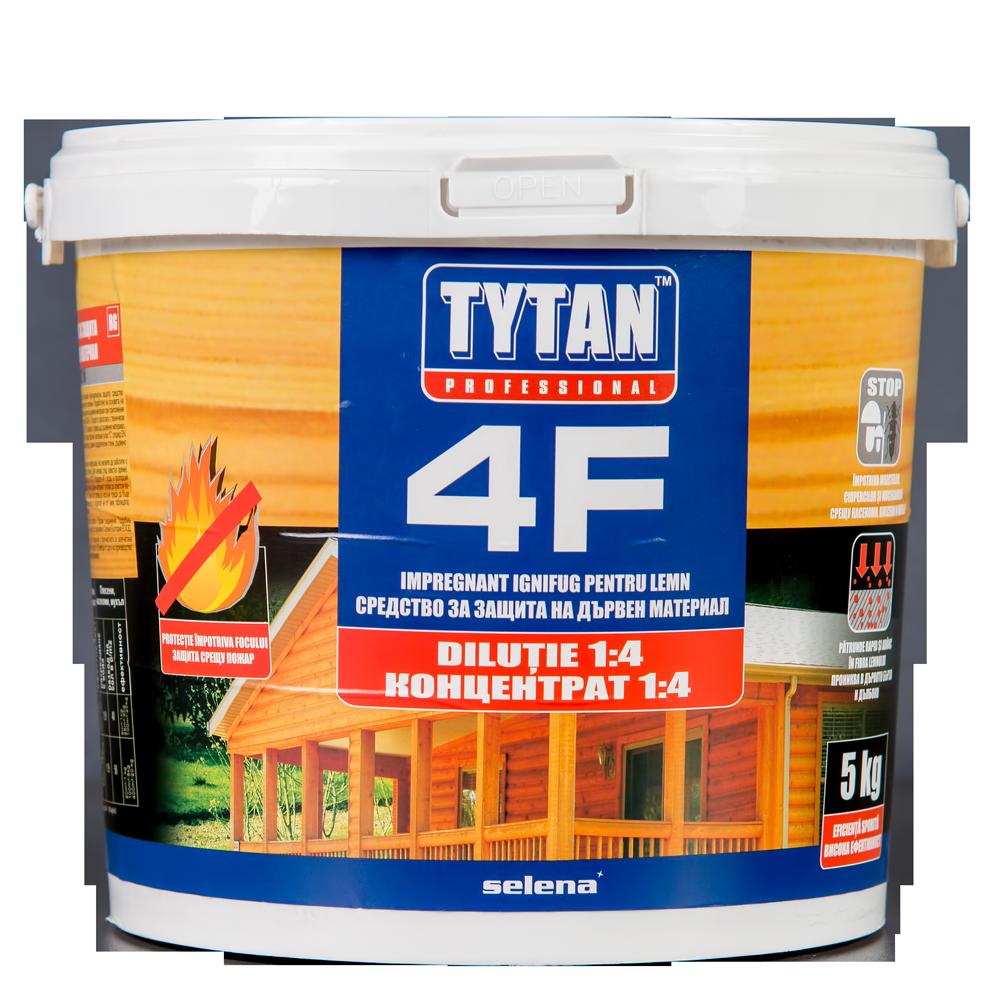 Impregnant ignifug pentru lemn Tytan 4F, 5 kg, consum 1 kg/5m²