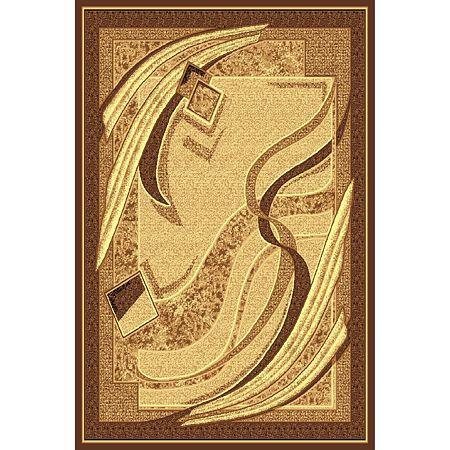 Covor clasic Gold 131/12, polipropilena BCF, bej-maro, 80 x 150 cm