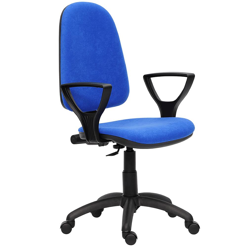 Scaun birou ergonomic Golf LX C06, reglabil, stofa albastra imagine MatHaus.ro