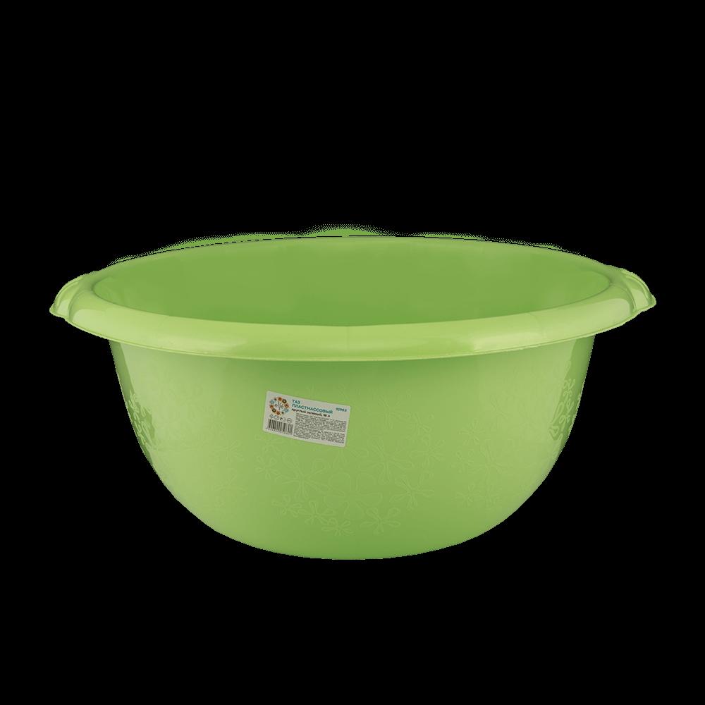 Lighean rotund, plastic, verde, 16l