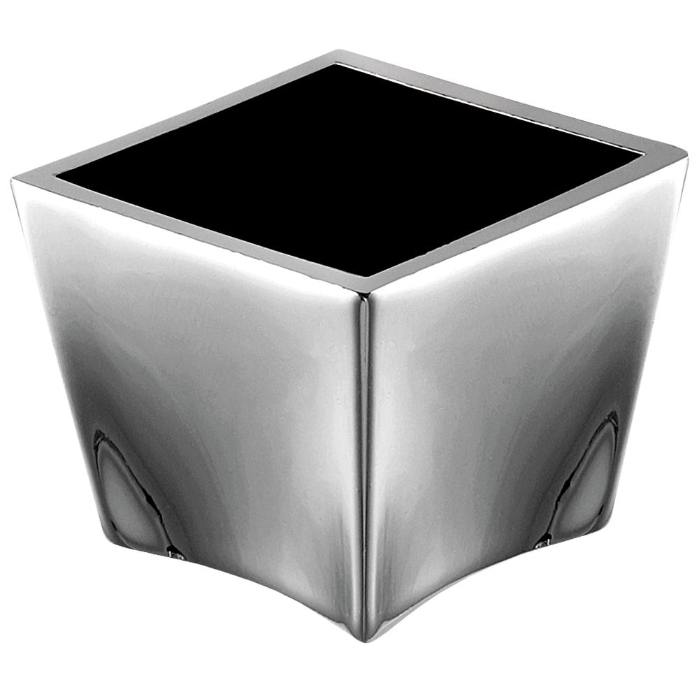 Buton cu insertie Arma BR 172, metal, 25 x 30 mm, crom - negru imagine 2021 mathaus