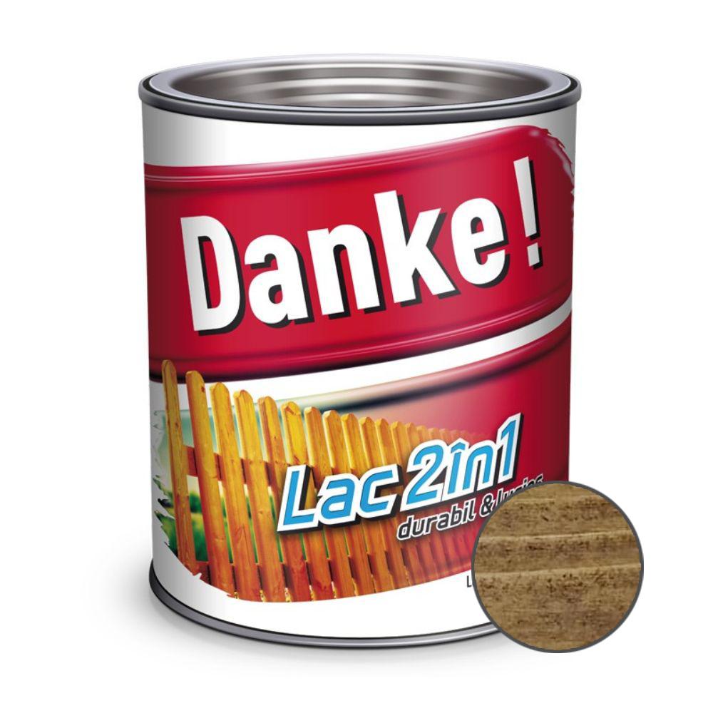 Lac pentru lemn 2 in 1, Danke!, palisandru, interior/exterior, 0.75L imagine MatHaus