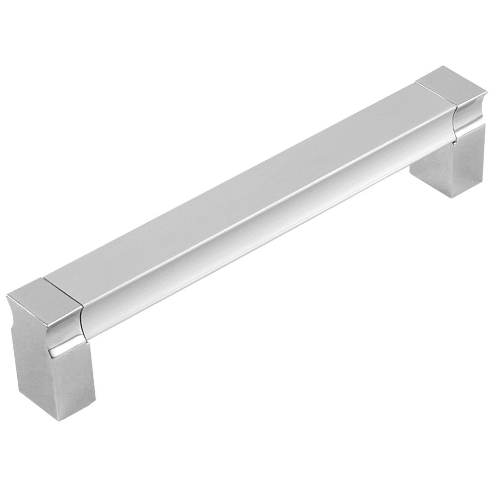 Maner cu terminatii din zamac FA 6251, aluminiu, crom mat, 128 mm mathaus 2021