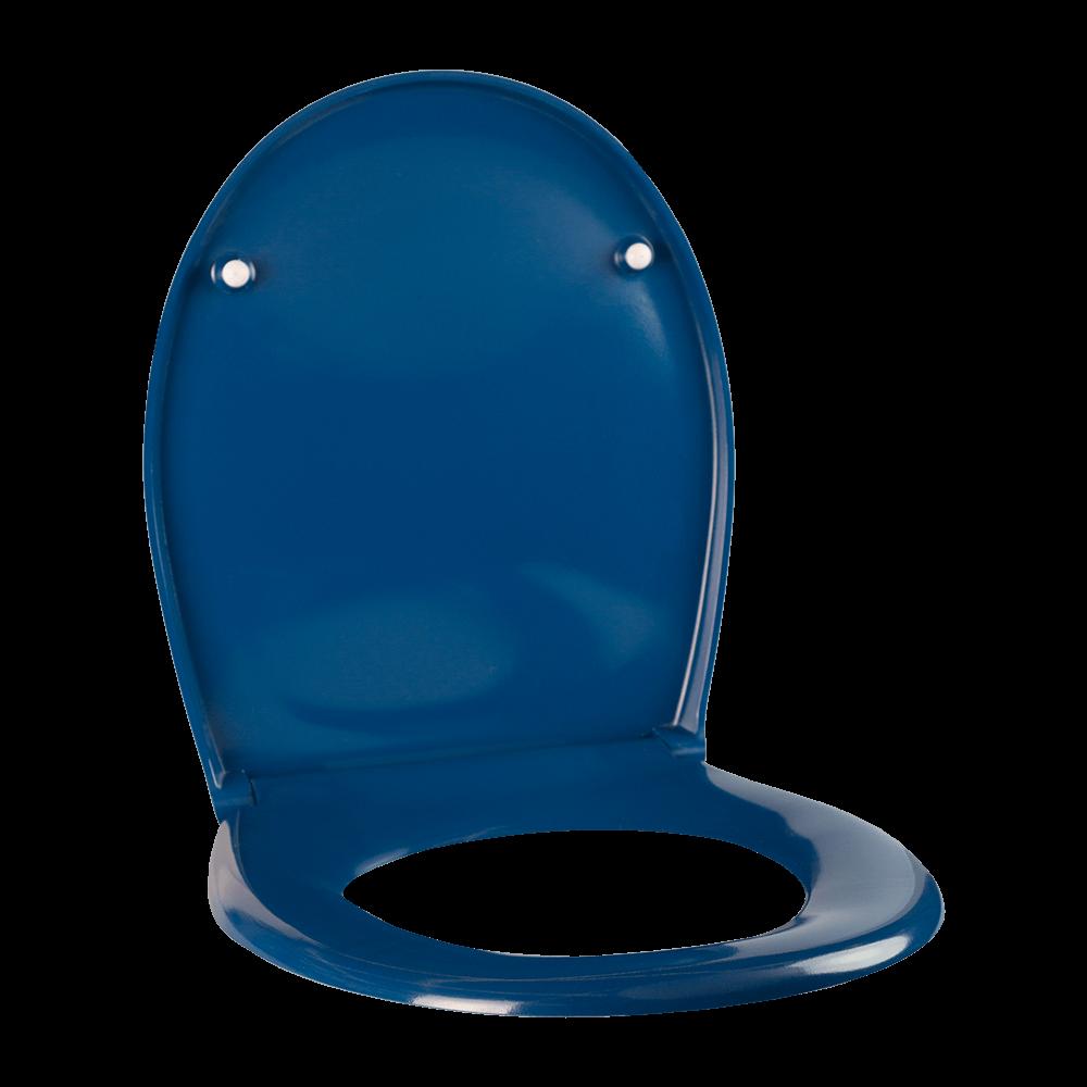 Capac pentru WC Romtatay, duroplast, albastru, 37,5 x 44,5 x 4 cm