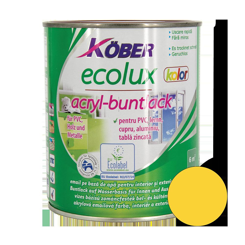 Email Ecolux Kolor galben 0,75 L mathaus 2021