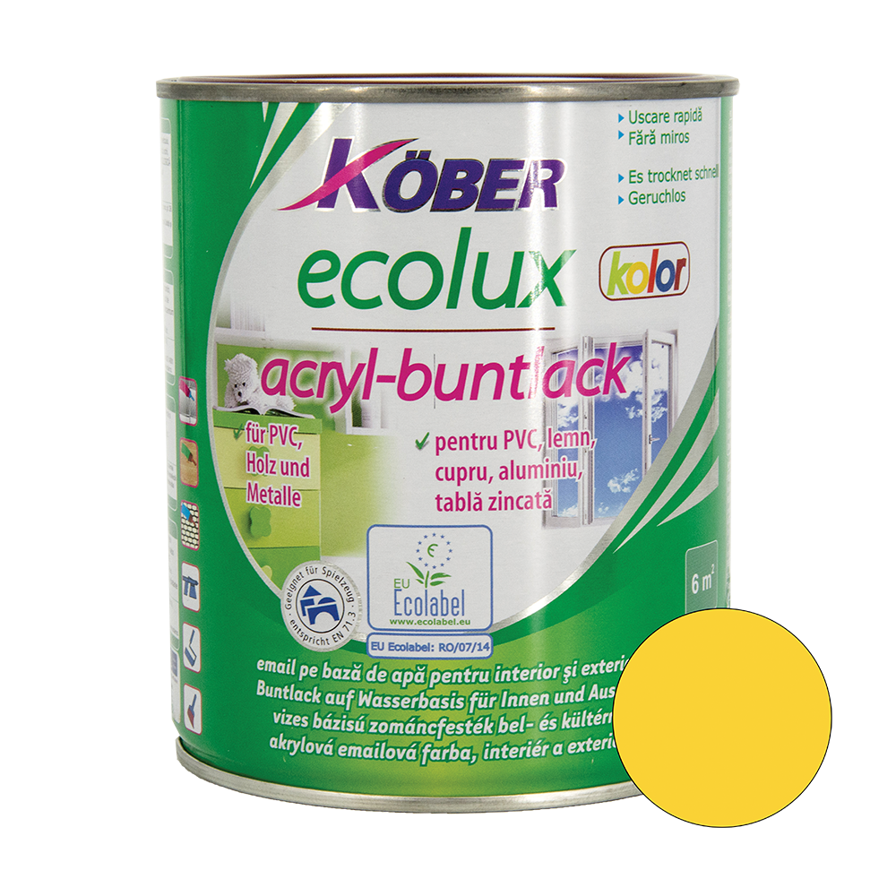 Email Ecolux Kolor galben 0,75 L imagine 2021 mathaus