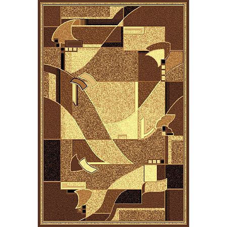 Covor clasic Gold 335/12, polipropilena BCF, bej-maro, 60 x 110 cm