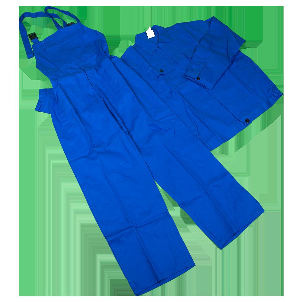 Costum salopeta cu pieptar Mex, 100% bumbac sanforizat, marimea 56, bleumarin mathaus 2021