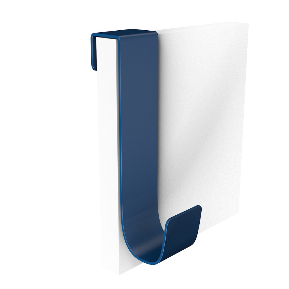 Agatator haine, agatare dubla, aluminiu, albastru, 60 x 45 x 190 mm