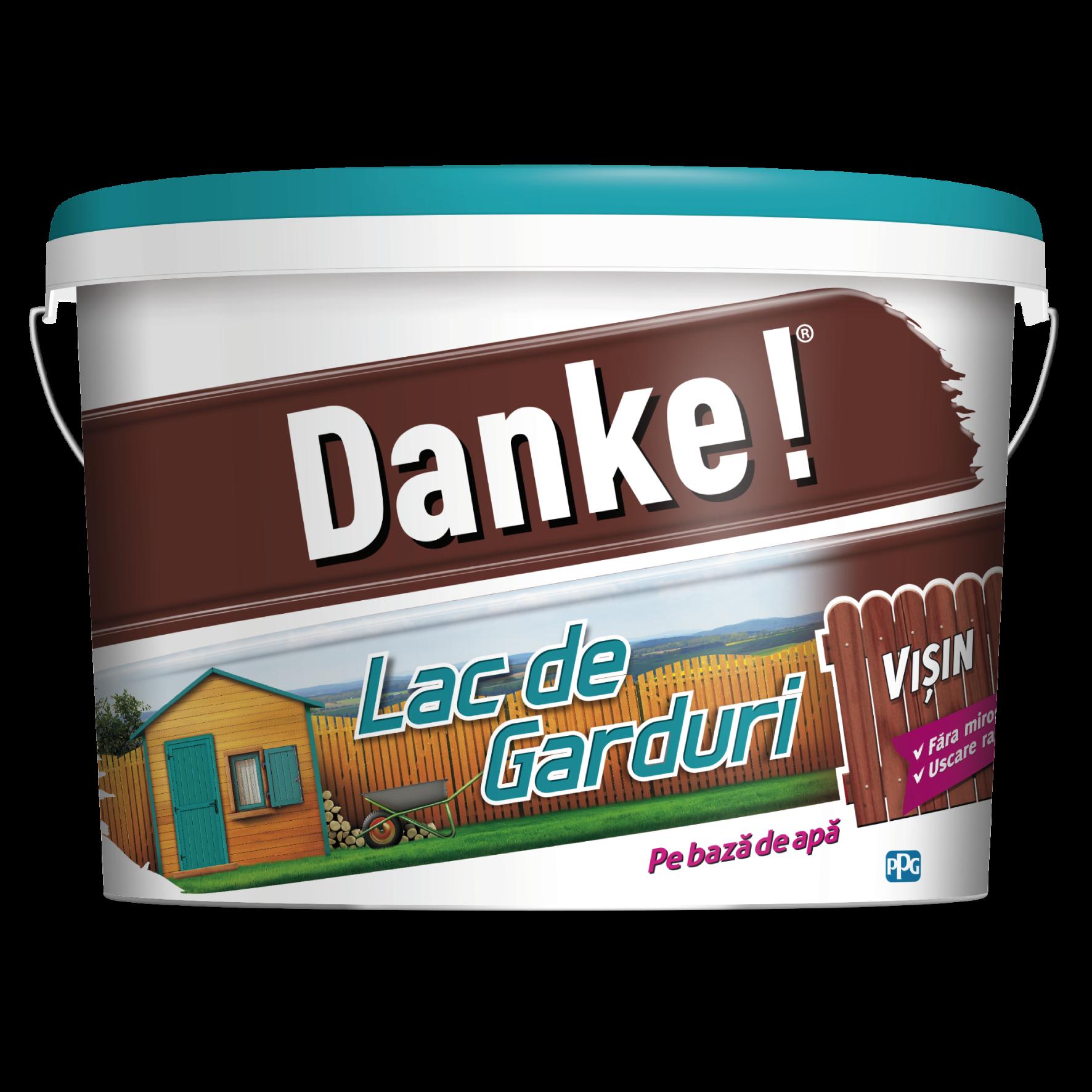 Lac pentru lemn Danke pentru garduri, visin, pe baza de apa, interior/exterior, 4 l mathaus 2021