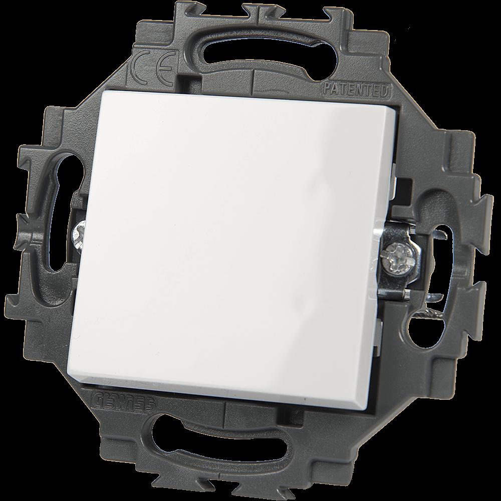 Buton cu revenire Gewiss Dahlia GW35022W, led, 1P - 10 AX imagine MatHaus.ro