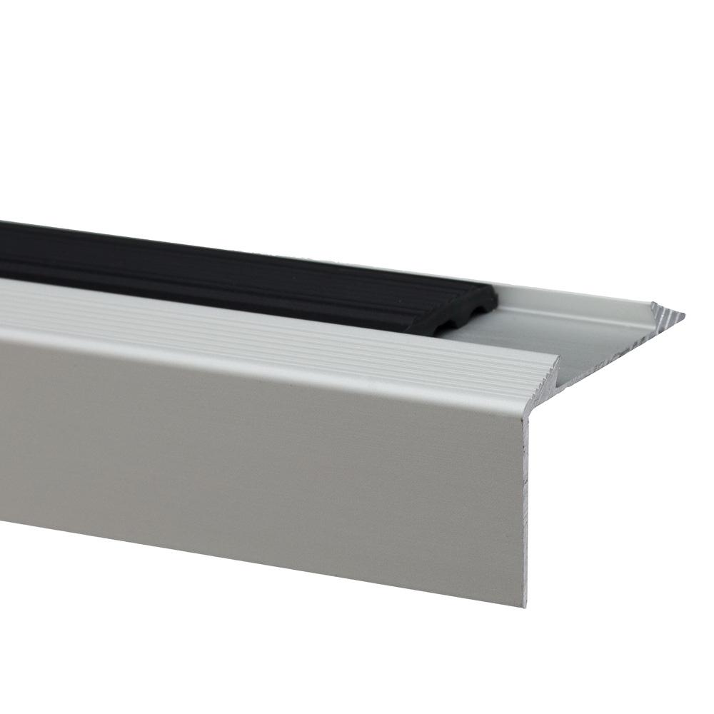 Profil de treapta cu banda antiderapanta S38, argintiu, 46 mm x 2,7 m imagine 2021 mathaus