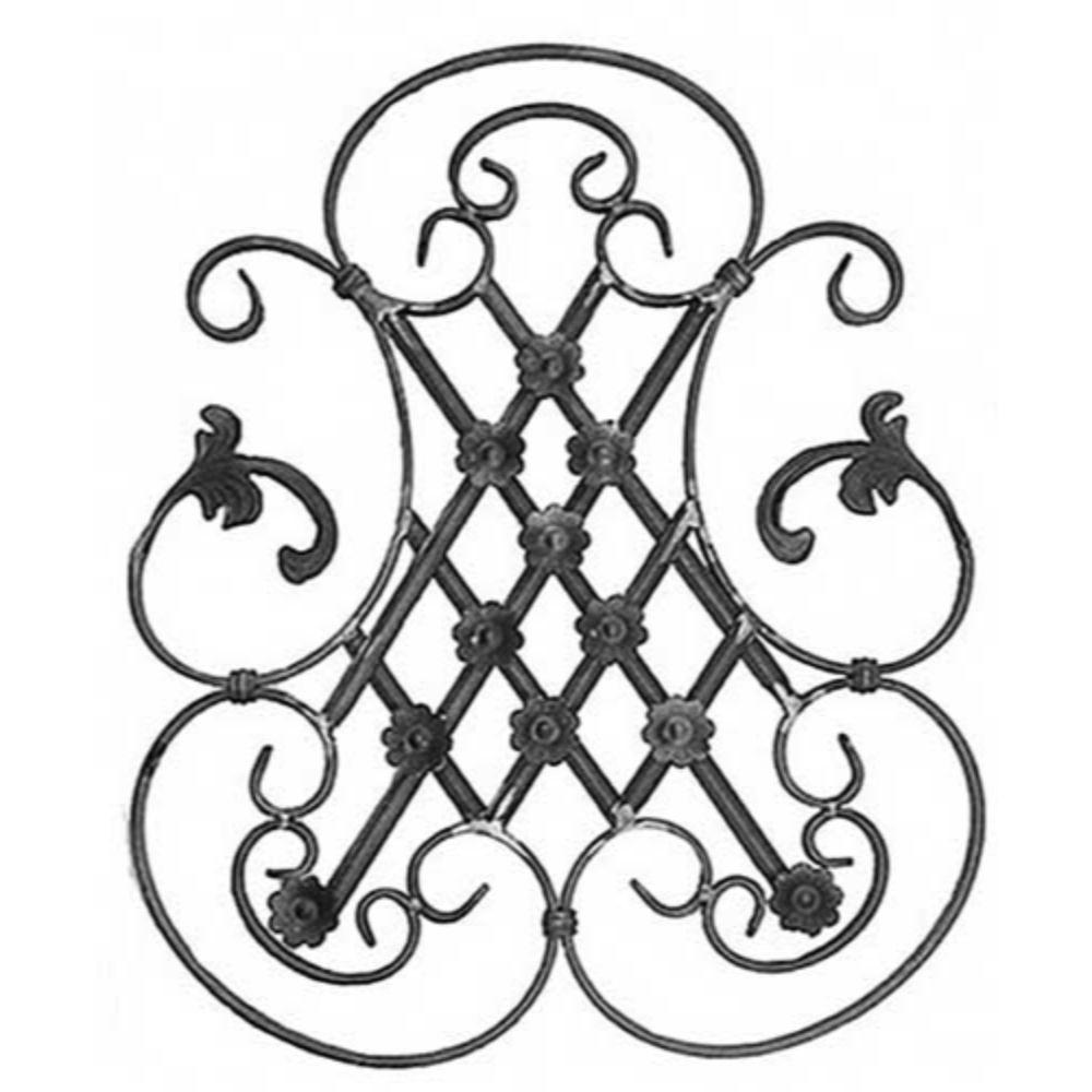 Ornament central, 555 x 455 x 12 x 5 mm