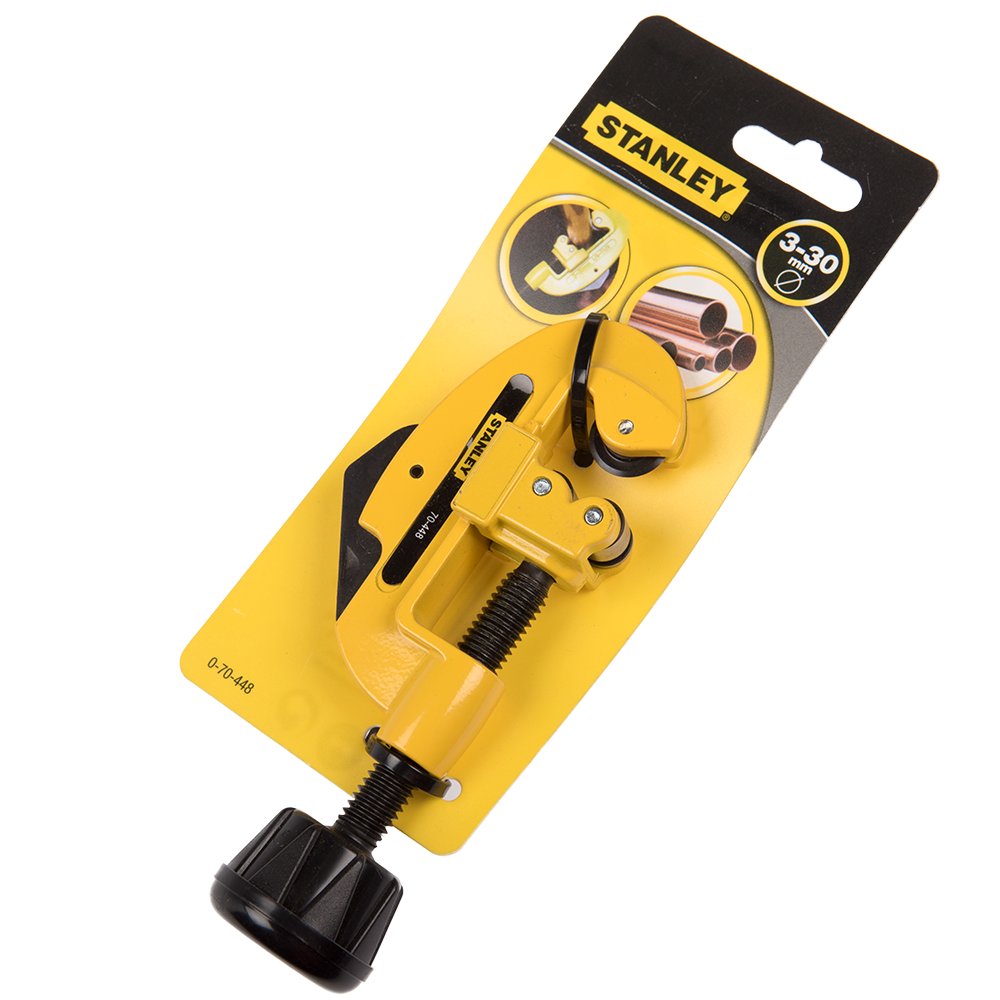 Dispozitiv pentru taiat tevi Stanley, lama metal, galben/negru,  3- 30 mm imagine MatHaus.ro