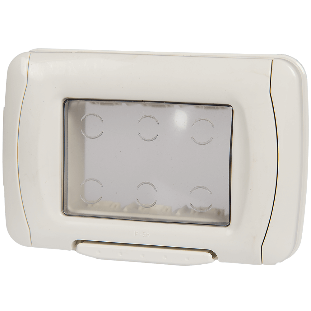 Rama protectie cu capac transparent Stil, 3 module, 83 mm imagine 2021 mathaus