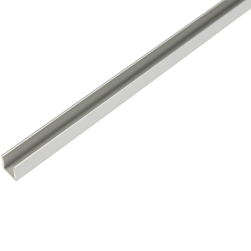 Profil din aluminiu tip U, 12 x 13,5 x 1,3 mm, 1 m imagine 2021 mathaus