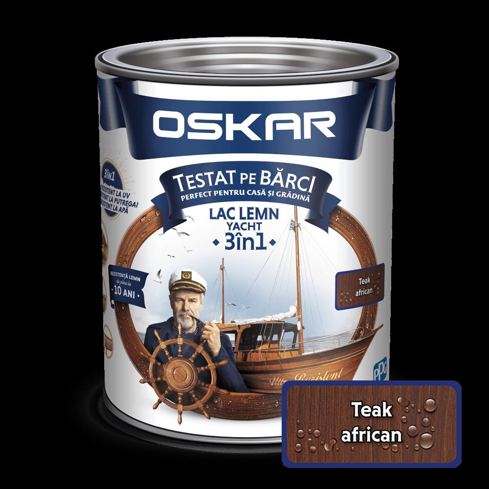 Lac pentru lemn Oskar Yacht, teak african, interior/exterior, 0.75 L imagine MatHaus