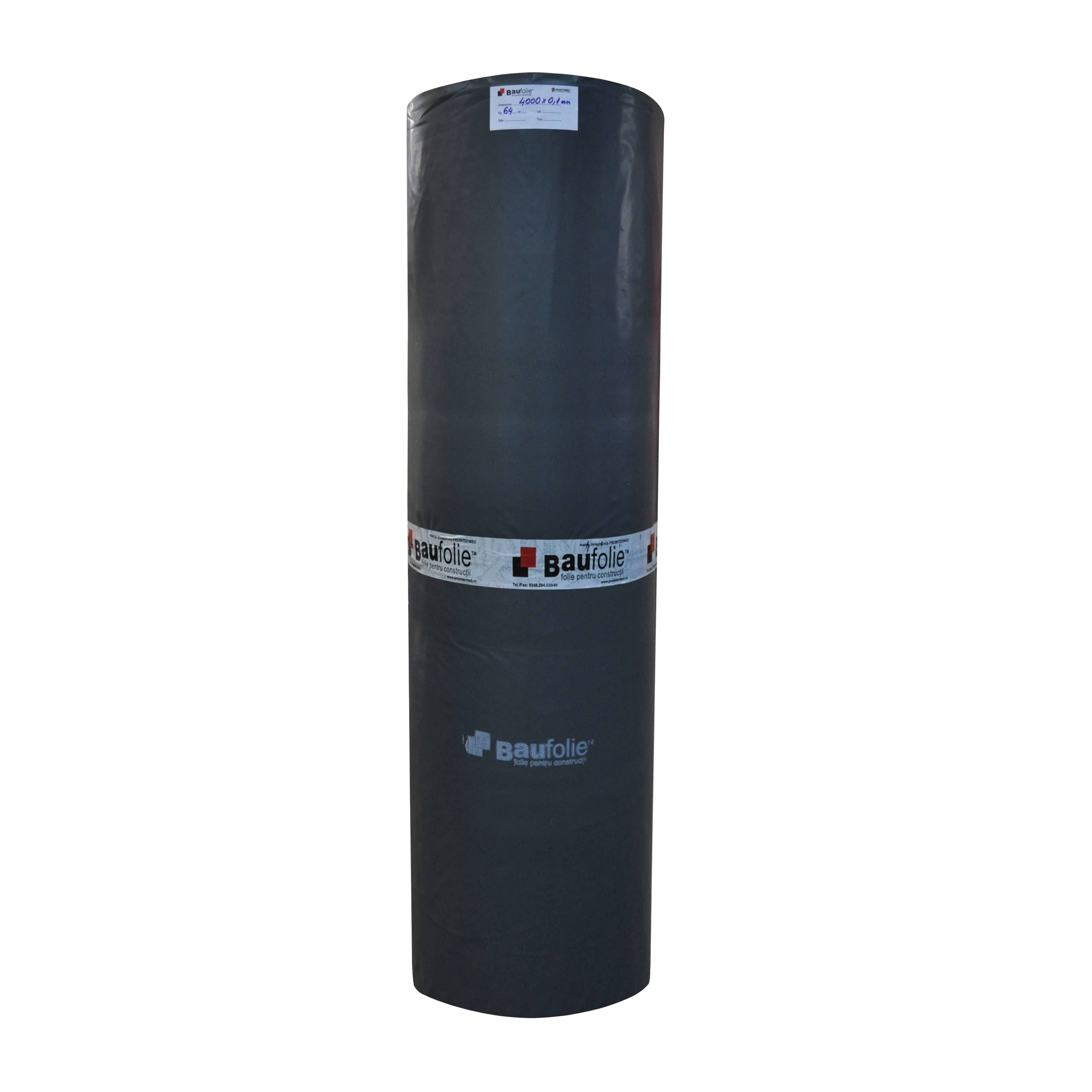 Folie polietilena Baufolie, PE reciclat, negru, grosime 0,12 mm, latime 4,2 m mathaus 2021