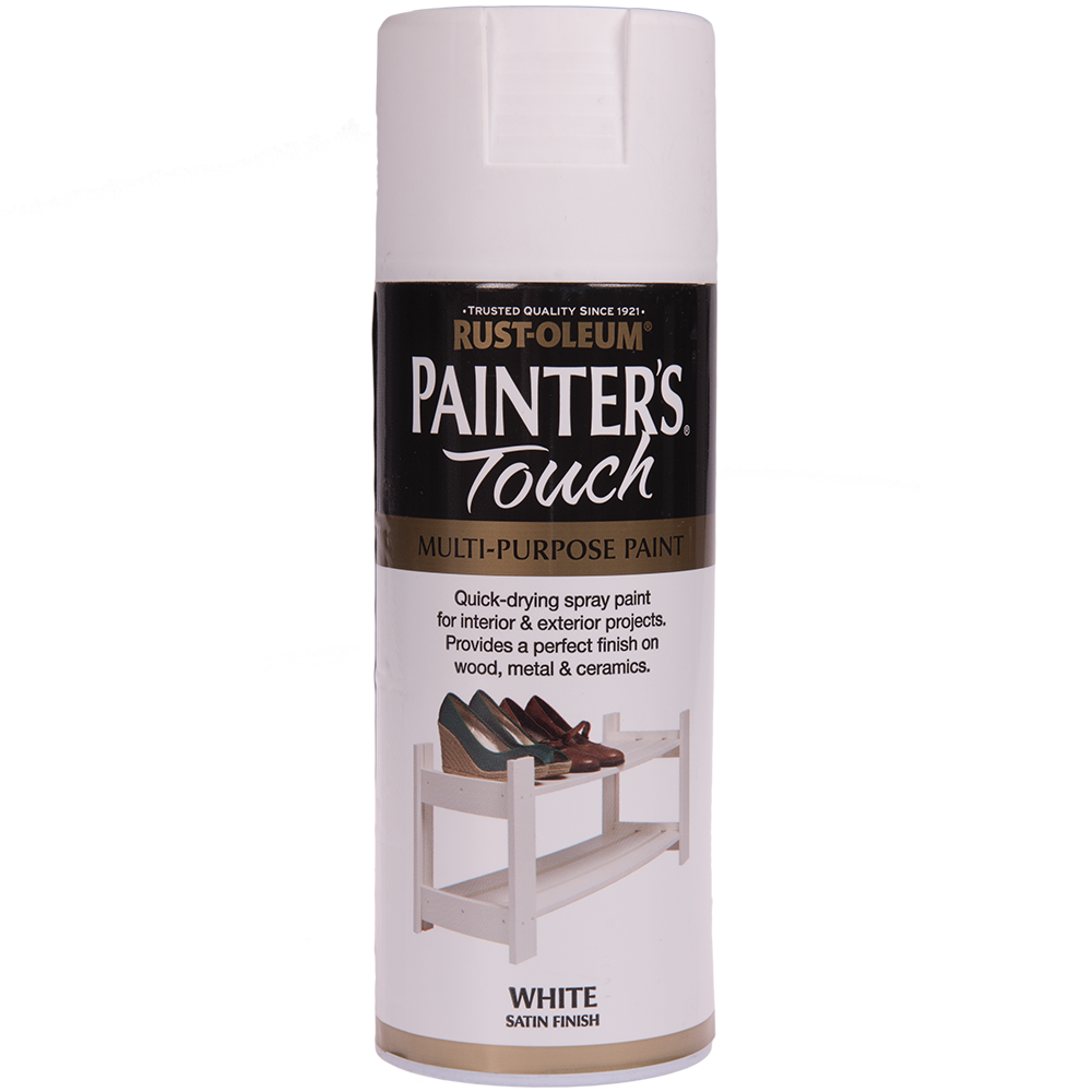 Spray Rust-Oleum Painter`s Touchs, satin, alb, 400 ml