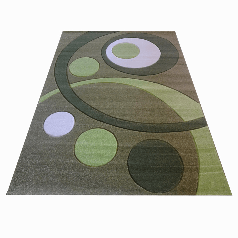 Covor modern Carvino, polipropilena, model geometric, verde, 80 x 150 cm imagine 2021 mathaus