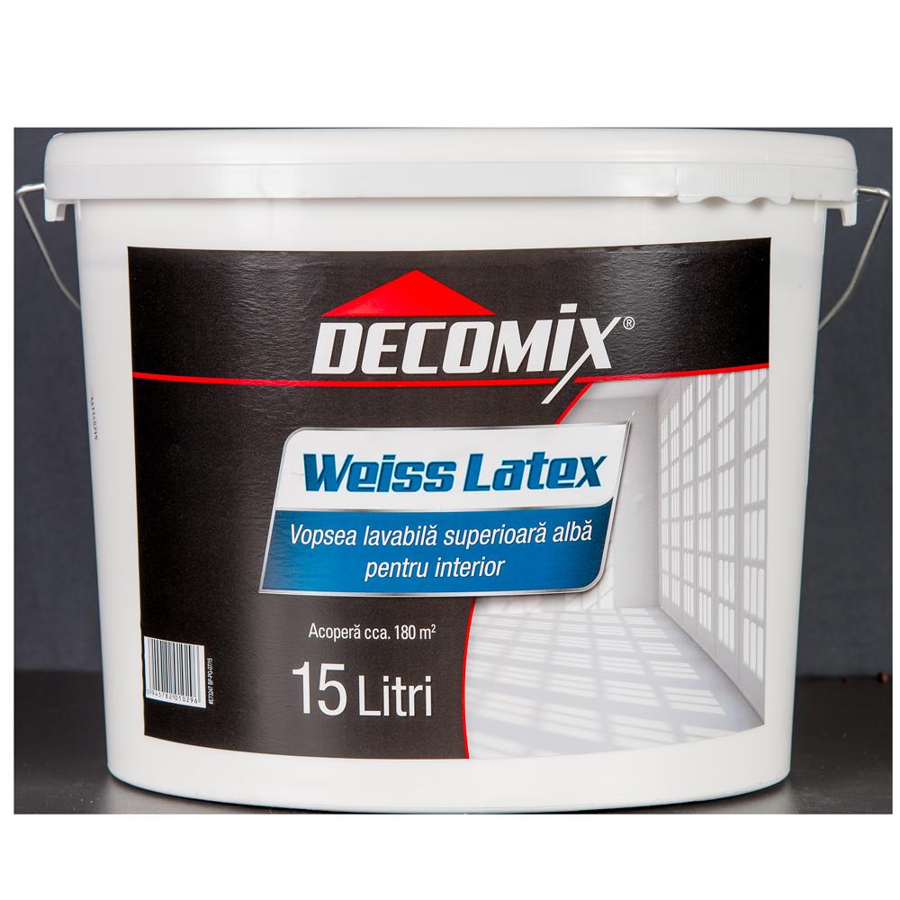 Vopsea lavabila latex Decomix WeissLatex, de interior, alba, 15 L imagine 2021 mathaus