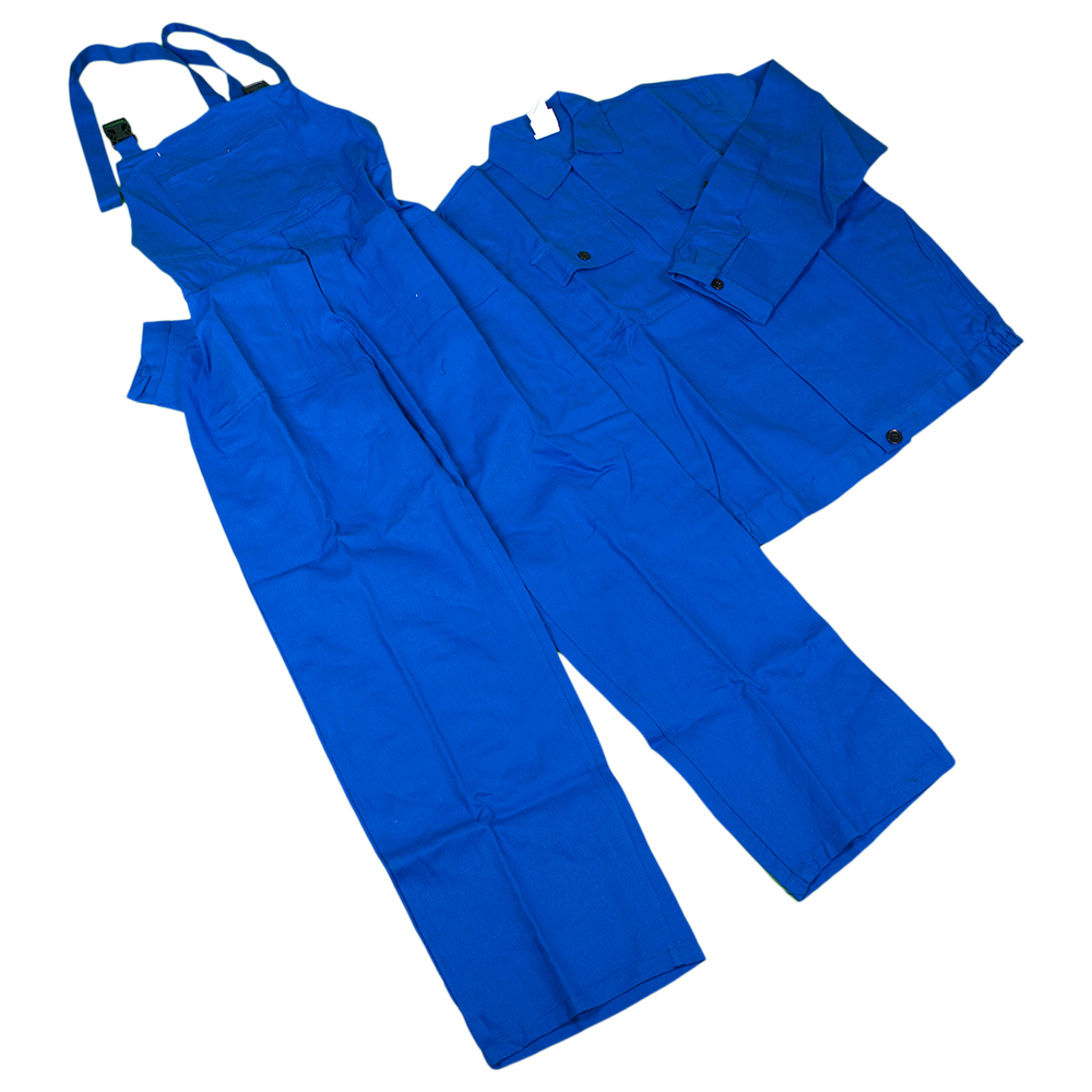 Costum salopeta cu pieptar Mex, 100% bumbac sanforizat, marimea 52, bleumarin imagine 2021 mathaus