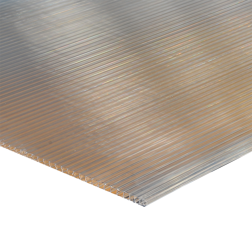 Policarbonat celular Carboplak, transparent, 6 m x 2,1 m, grosime 6 mm