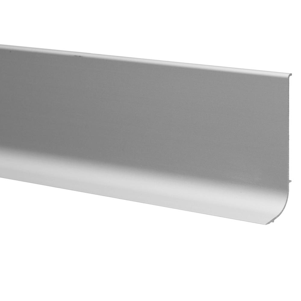 Plinta parchet, aluminiu, argintiu, 3000 mm imagine MatHaus