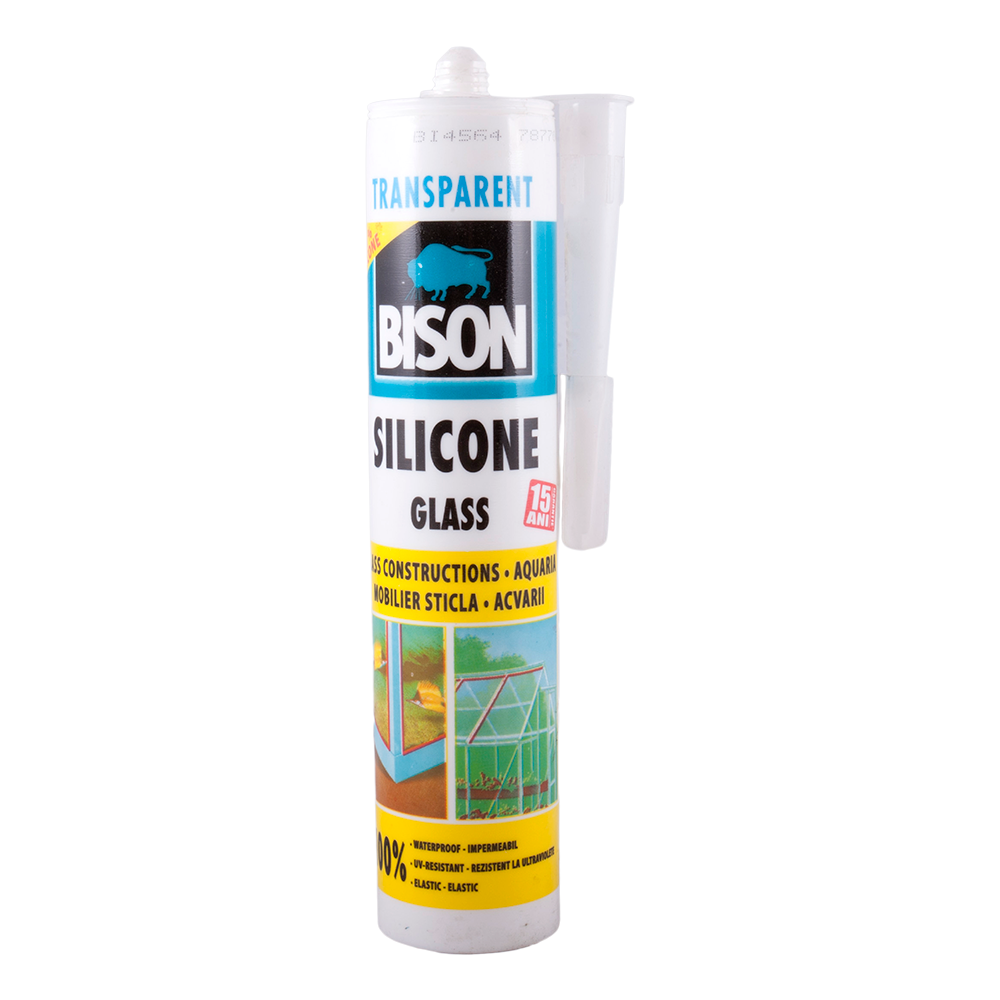 Silicon pentru sticla,Glas Bison, transparent, 280 ml imagine MatHaus