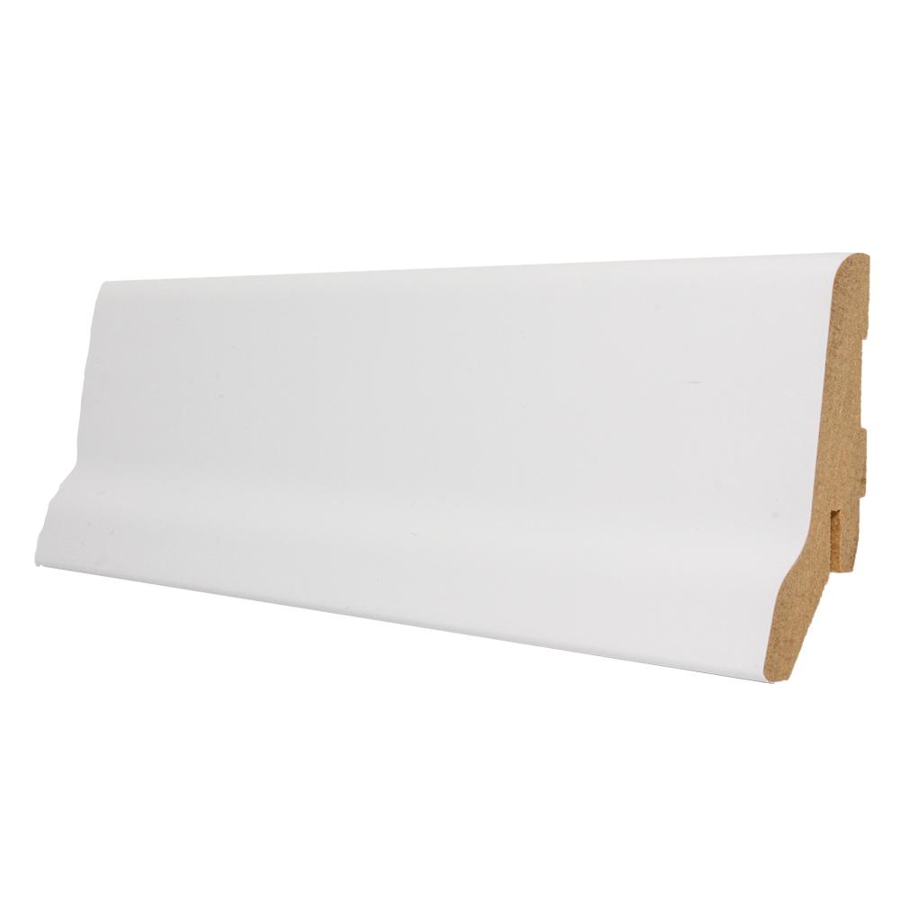 Plinta parchet, MDF, alb, 2800x60x23 mm imagine MatHaus