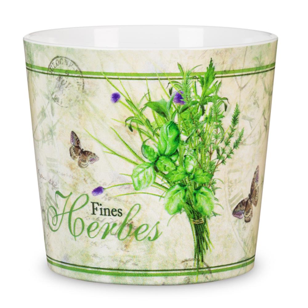 Masca ghiveci Scheurich Farmers Herbs, ceramica, multicolor, 2 l, diametru 15 cm, 14 cm