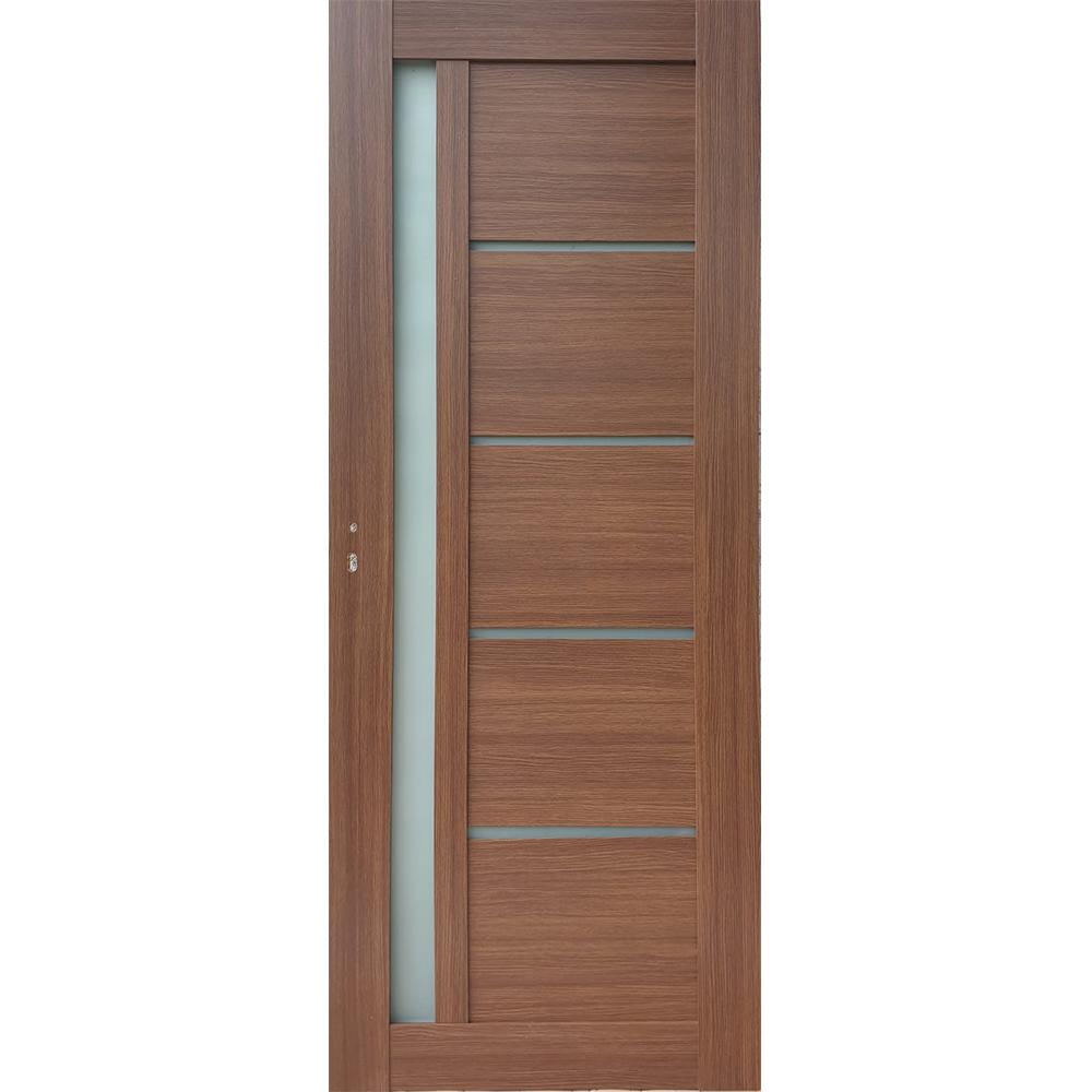 Usa interior cu geam Pamate U72, stejar auriu, 203 x 80 x 3,5 cm + toc 10 cm, reversibila mathaus 2021