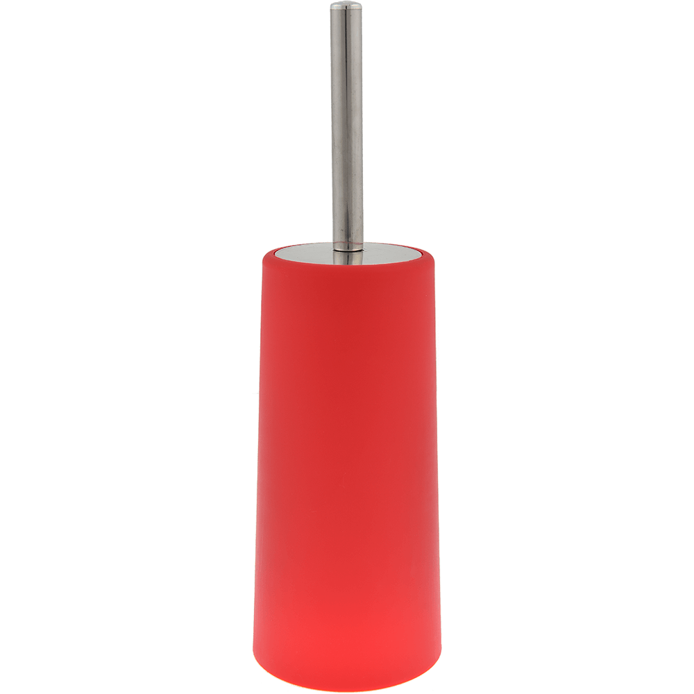 Perie WC Romtatay Slim, polipropilena/metal inoxidabil, rosu, 10 x 22 cm imagine 2021 mathaus