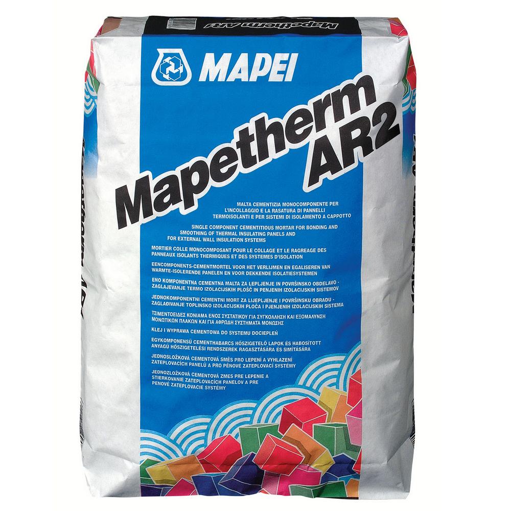 Mortar monocomponent Mapei Maptherm AR2, exterior, 25 kg