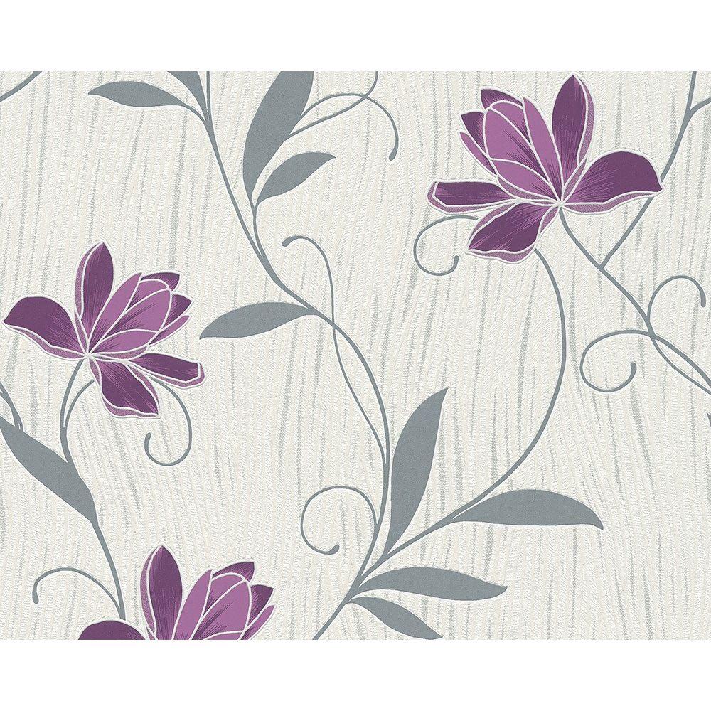 Tapet vlies AS Chicago 306234, flori de lotus, lavabil, 10 x 0,53 m
