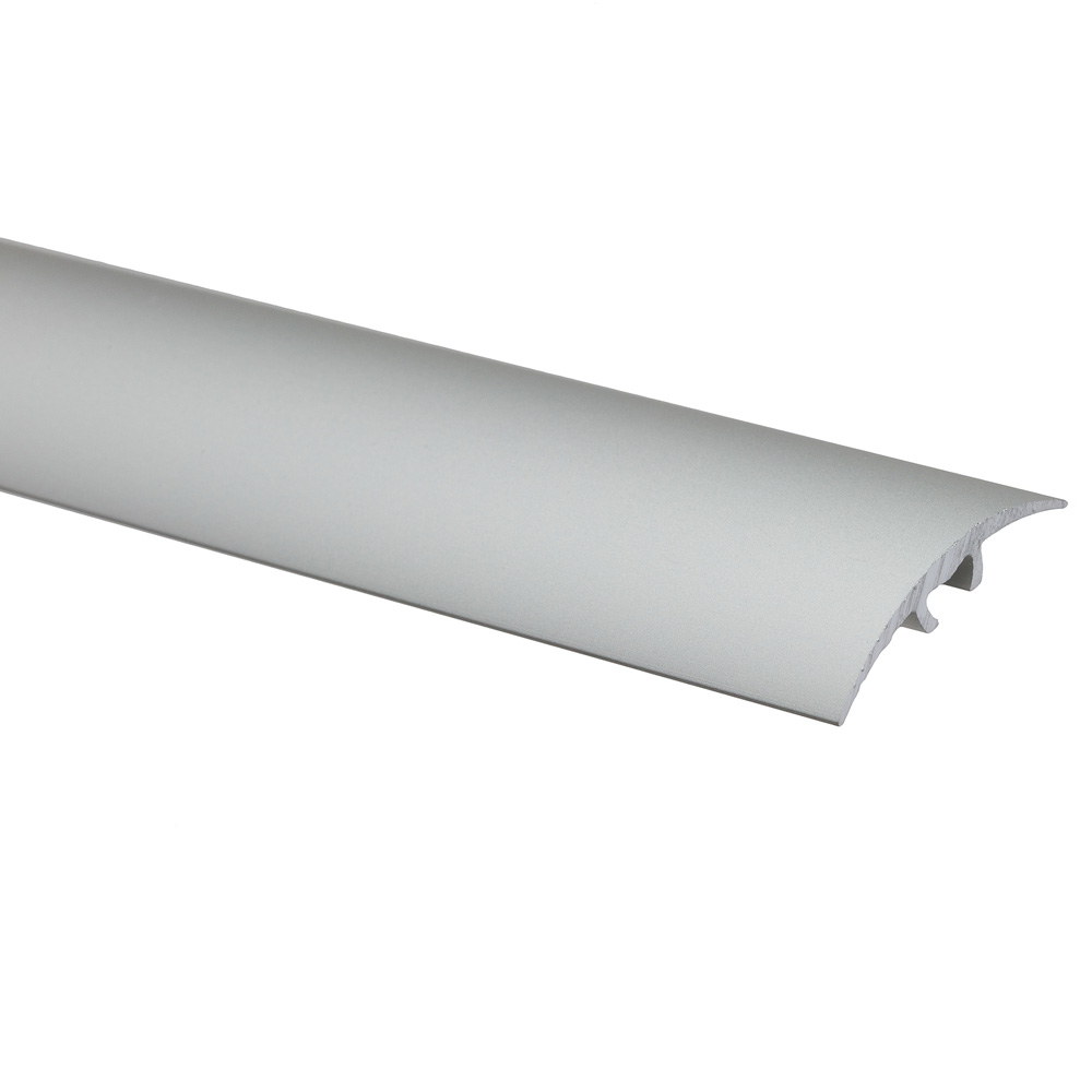 Profil de trecere cu surub mascat S66, fara diferenta de nivel Effector argint, 2,7 m imagine MatHaus.ro