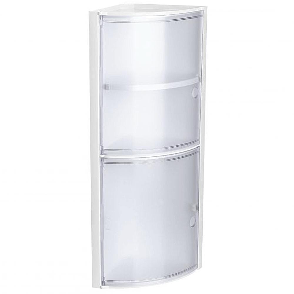 Coltar baie Romtatay Kristal, polipropelina, 3 rafturi, alb, 19 x 17 x 63 cm mathaus 2021
