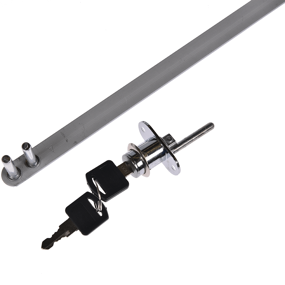 Incuietoare centralizata pentru sertare, montaj frontal, otel cromat, L 600 mm imagine MatHaus