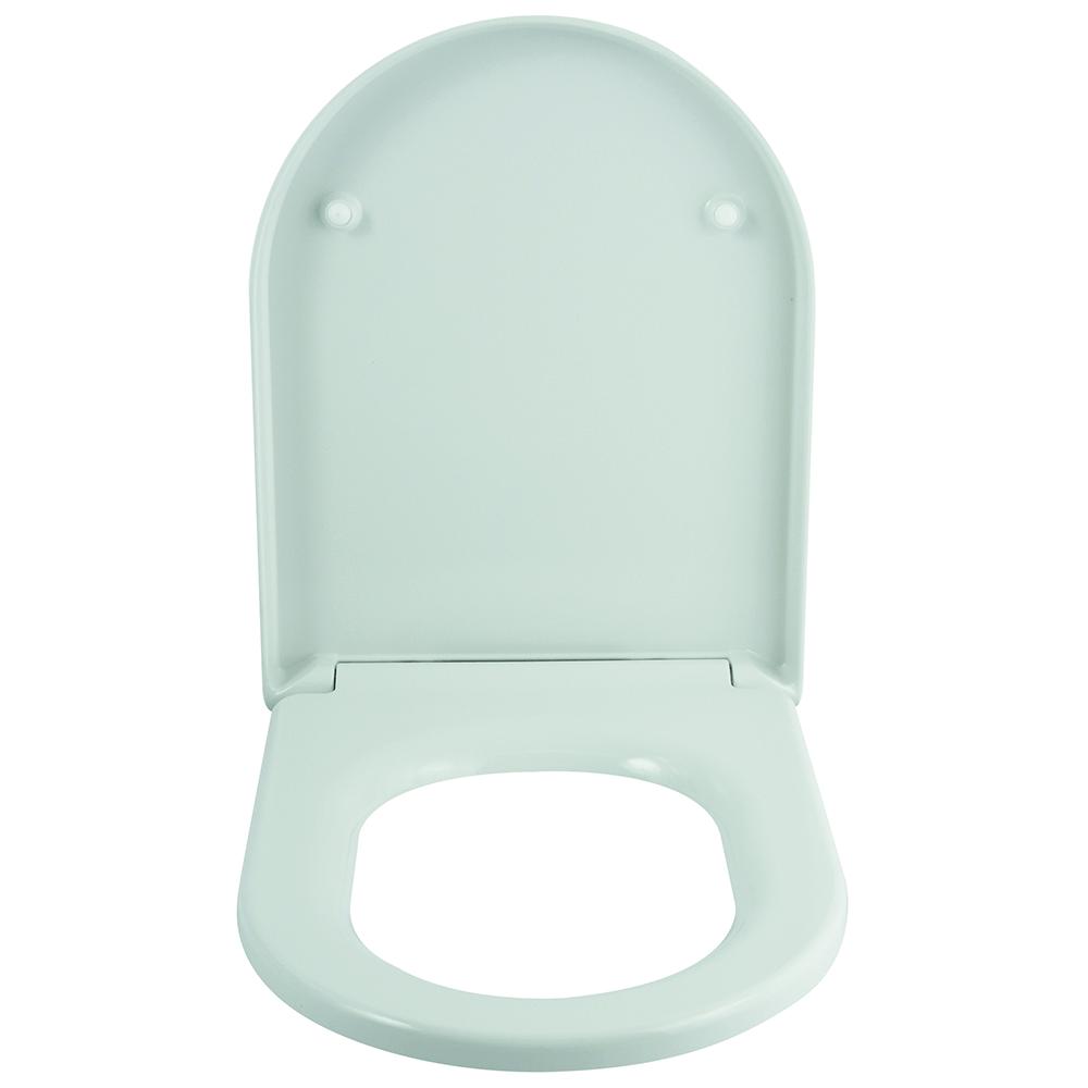 Capac WC Romtatay Taormina, duroplast, sistem soft close, alb, 47 x 36 cm