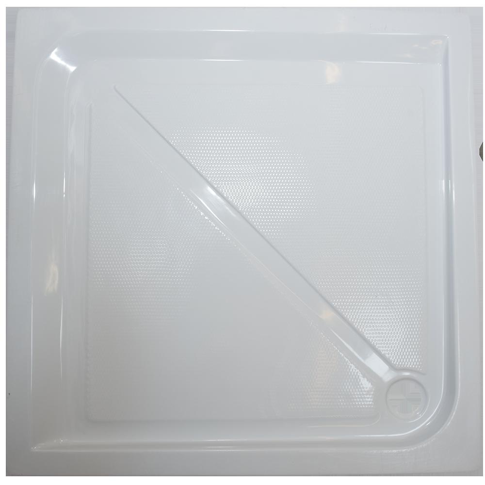 Cadita de dus Fibrex, acril sanitar, patrata, 80 x 80 x 13 cm imagine 2021 mathaus